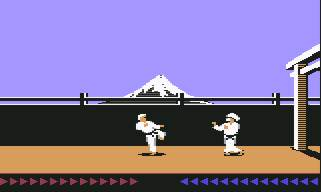 Karateka on Commodore 64